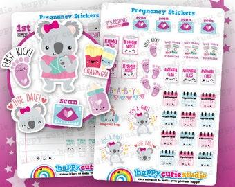Planificador de embarazo/embarazadas/bebé lindo 66 pegatinas Filofax, Erin Condren, planificador feliz, Kawaii, Cute pegatina, Reino Unido