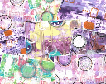 Instant Download Mixed Media papers Collage pages Journal Scrapbooking pages artist papers