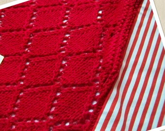 Red baby blanket
