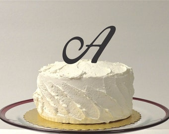 LETTER A - MONOGRAM Wedding Cake Topper Simple Beautiful with Personalized Monogrammed Wedding Cake Topper Custom Cake Topper