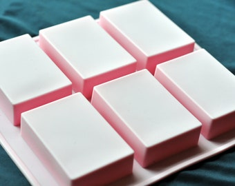 6x 100g Rectangle Bars Flexible Silicone Silicon Soap Molds Cake Molds Chocolate