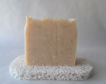 Oatmeal and Coconut Milk Soap, 4+ oz, Handcrafted, Safe for Mother and Baby
