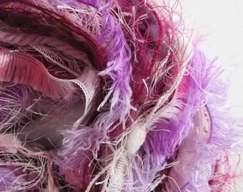 Pink Novelty Yarn Bundle - Art Yarn Bundle - Art and Craft Yarn - Berries 2