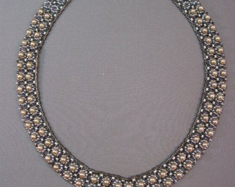 Simple Elegance Beaded Necklace Pattern Tutorial