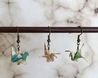 Origami Bird Earrings