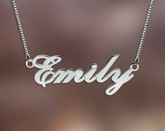 Name Necklace, Any Personalized Name Necklace, Custom Name Necklace, Nameplate Jewelry, custom made any name necklace