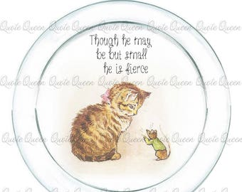 Beatrice Potter Decoupaged and painted plate
