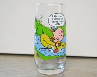 Vintage Charlie Brown Drinking Glass