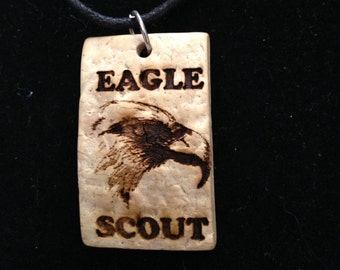 Necklace - Scout Eagle Coconut Pendant Necklace