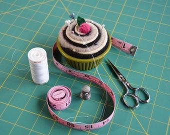 Morning Espresso Pincushion Cupcake, Cupcake Pin Cushion, Chocolate Cream Cupcake Gifts, Christmas gifts under 15 dollars