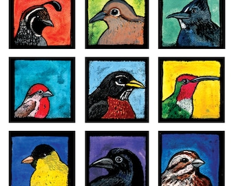 Wild Birds of Northern California Digital Giclée Wall Art Print