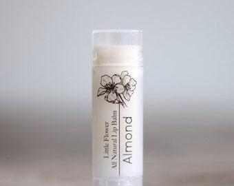 Almond Flavor Lip Balm, Chapstick, Natural lip balm,  Beeswax Lip Balm, Gift for her best friend gift shower favor