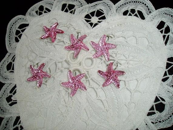 Starfish Hair Swirls Twists Spins Spirals for Beach Wedding Party In Pink Acrylic