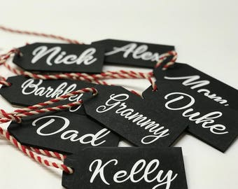 Stocking Tag, Personalized Christmas Stocking Name Tag, Personalized Christmas Gift Tag, Christmas Name Tag, Custom Stocking Tags, Valentine