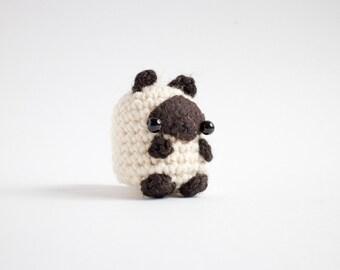 siamese cat figurine - crochet cat amigurumi