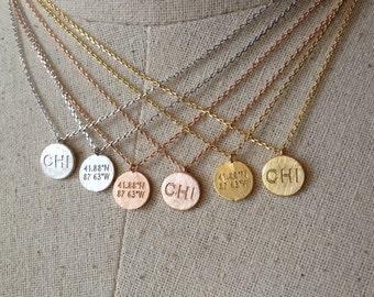 Chicago Flag Necklace 14k Gold platedSilverRose Gold