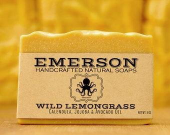 100% Natural Lemongrass Calendula Soap •  Vegan Soap, Palm Free Soap, All Natural Soap, Handmade Soap, Zero Waste, Waste Free
