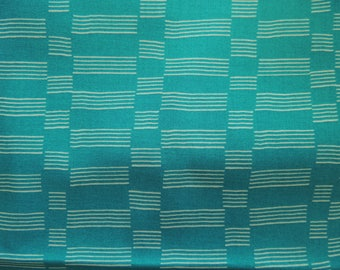 Patch background green Turquoise white stripes pattern fabric