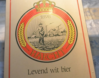 Haecht Levend Wit Bir Tarwebier 1898  vintage panel