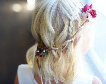 Floral hair crown