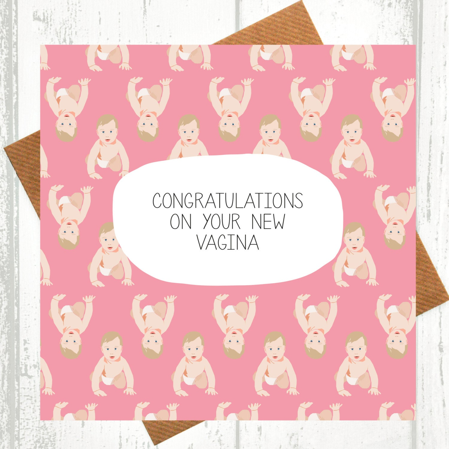 Funny new baby card congratulations on your new vagina zoom kristyandbryce Images
