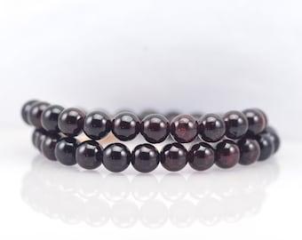 Garnet Gemstone Wrap Bracelet/ Garnet Jewelry/ January Birthstone/ January Wedding/ Burgundy Wedding/ Unique jewelry/ mothers day gift