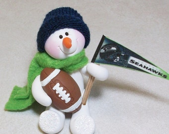 Seattle Seahawks snowman ornament