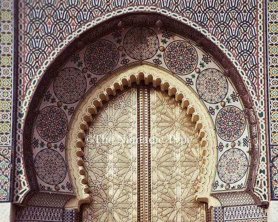 & Morocco decor Archway door print Fez photo print Morocco Photo