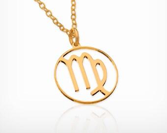 Virgo necklace Virgo zodiac Dainty gold necklace Virgo constellation necklace zodiac jewelry, Virgo zodiac sign