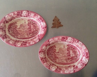 Johnson Brothers England Old Britian Castles Bowls - Pet Dishes