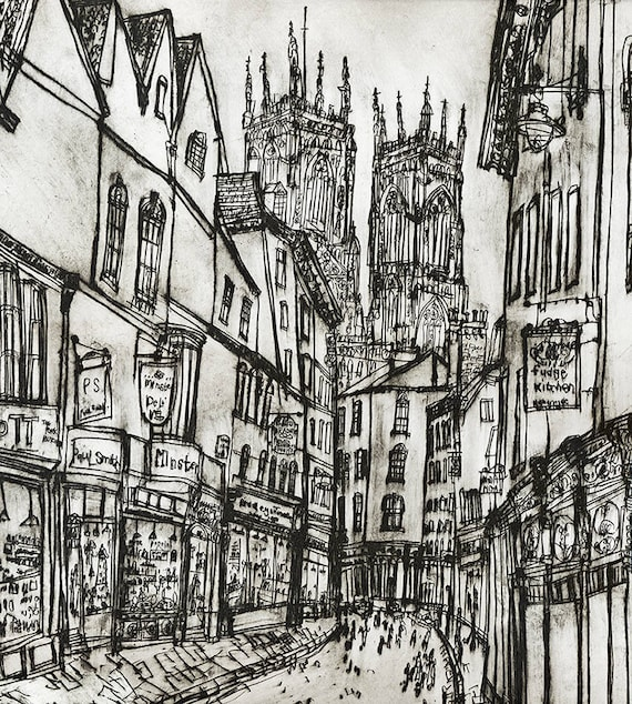 York minster england yorkshire art print signed giclee