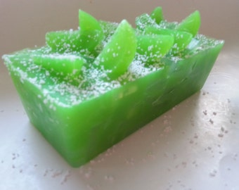 Margarita Lime Glycerin Handmade Soap. Summer party favors, favors gift, birthday party favors, spa party, spa gift, shower gift