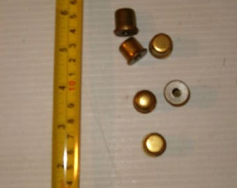 6 Brass Colored Lamp Shade Holders , Shade Holder, Vintage Lamp Parts