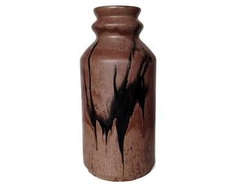 Rare, Large Floor Vase, Blue Mountain Pottery, Mocha Glaze, Brown, Taupe, Black