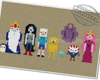 Adventure Time - The *Original* Pixel People - PDF Cross-stitch PATTERN - Instant Download