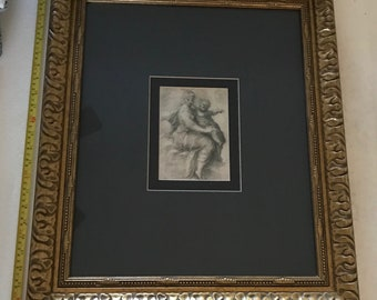 Madonna and Child On The Clouds by F. Parmigianino Art Print (Framed)