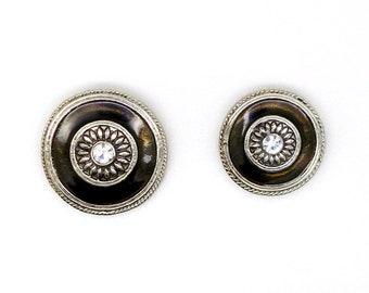 Connector, round, silver, resin, bronze