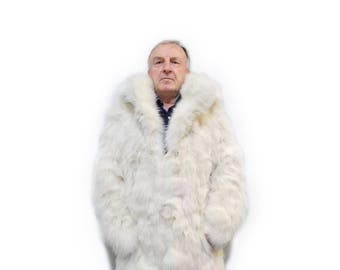 Fashionable fox fur jacket for men F505