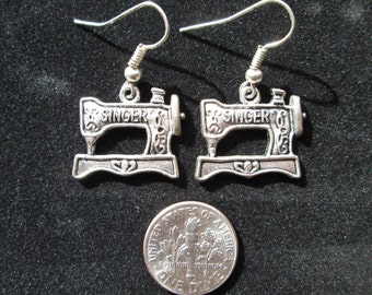 Singer Sewing Machine Earrings, Gift for Her