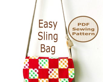 EASY SLING Bag Instant Download  - PDF Sewing Pattern And Tutorial