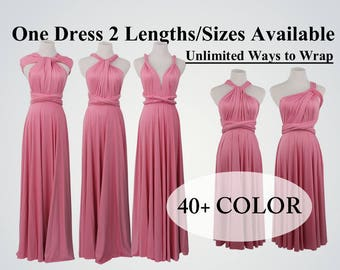 Dark pink bridesmaid dress long infinity dress short convertible bridesmaid dress pink infinity dress long maxi dress wedding dress