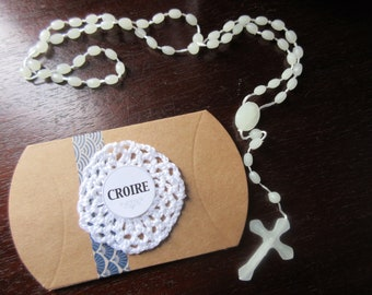 A decorated gift box and Rosary believe COLLECTION: