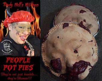 People-Pot-Pies!!  Latex/foam Halloween decor art prop