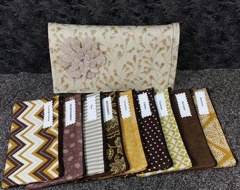 Cash Envelope Wallet JUMBO size, 8 to 15 Cash Envelopes & Pouch -Ivy Natural- (It can be used with the Dave Ramsey system) READY to SHIP