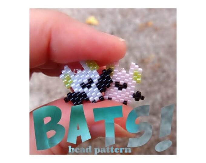 Brick Stitch Mini Bats Bead Pattern