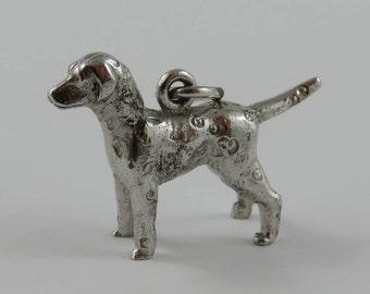 Dalmatian Dog Sterling Silver Vintage Charm For Bracelet