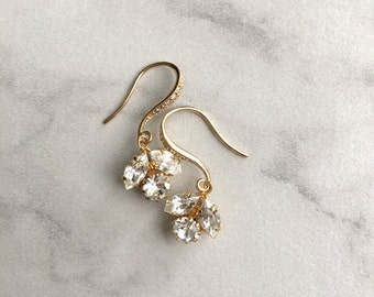 Wedding earrings - bridesmaid earrings - Idaho gold earrings