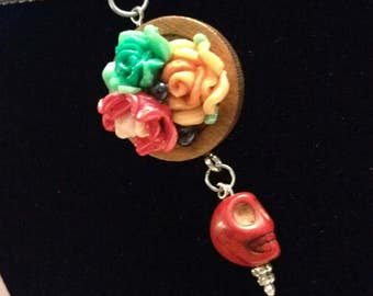 Flowers & Skull Necklace