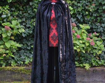Cape Abbegail, fantasy cape / cloak, Velvet / velour cape, medieval cape
