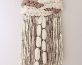 Woven Wall Hanging || Woven Tapestry || Neutral Weaving
